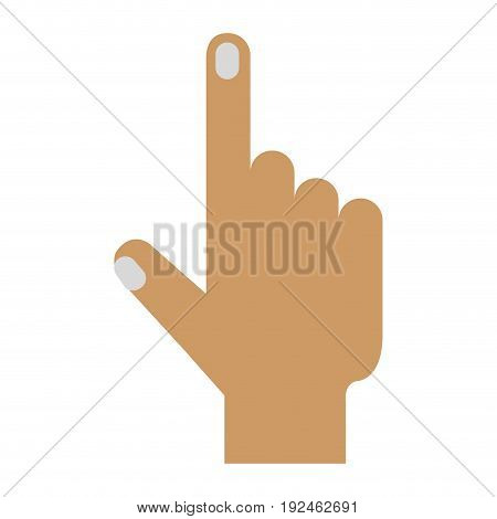 touch point hand icon vector illustration design graphic