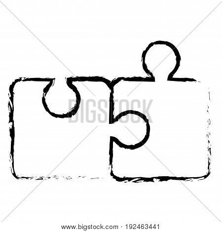 Puzzle tokens flat icon vector illiustration design doodle