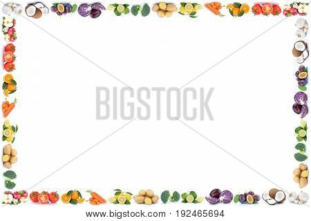 Fruits And Vegetables Apples Oranges Vegetable Food Frame Copyspace Copy Space