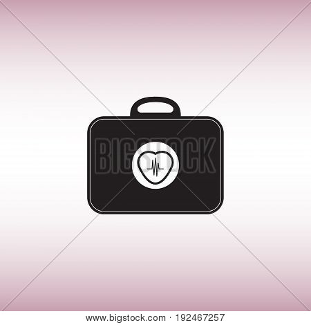 Heart beat flat vector sign. Heart beat isolated icon. Wearable medicine chest vector illustration.