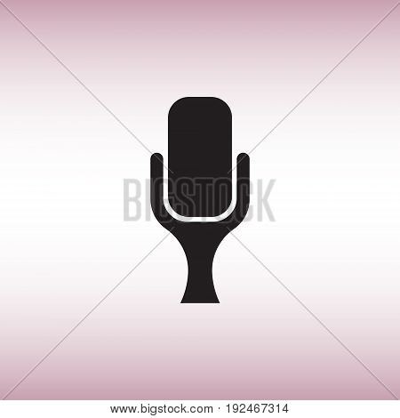 Microphone flat vector icon. Isolated microphone vector sign. Sound record symbol vector illustration.