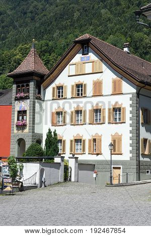Old Houses At Altdorf In The Canton Of Uri, Switzerland