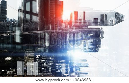Business city background