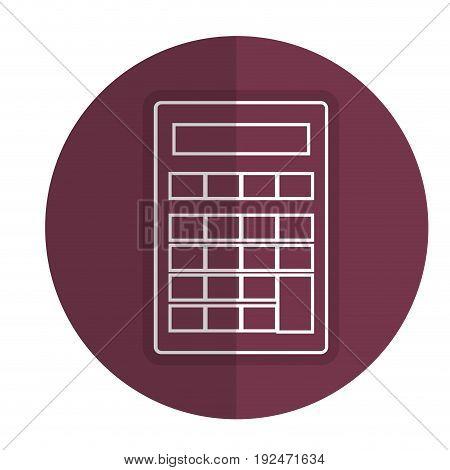 Mathematical element calculator icon vector illustration design shadow