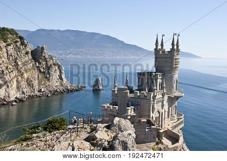 Decorative castle located at Gaspra, a small spa town between Yalta and Alupka, in the Crimean Peninsula