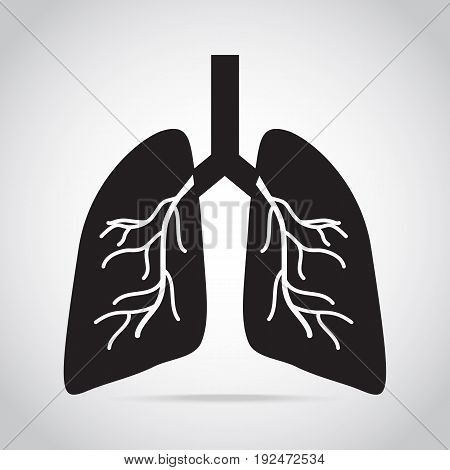 lungs icon medical concept vector icon illustration