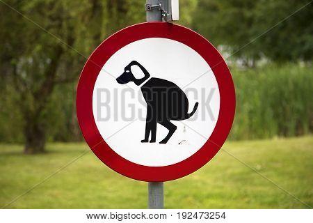 No dog entry ban, a funny sign
