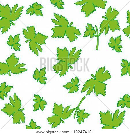 Seamless pattern from foliage on white background