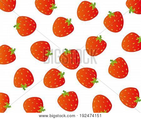 Ripe berry strawberries on white background is insulated