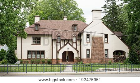 Urban English Tudor Stucco Home