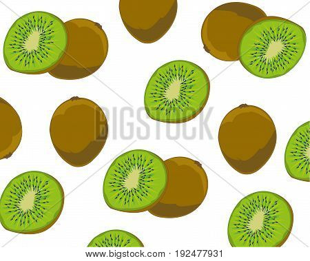 Ripe fruits kiwi on white background is insulated
