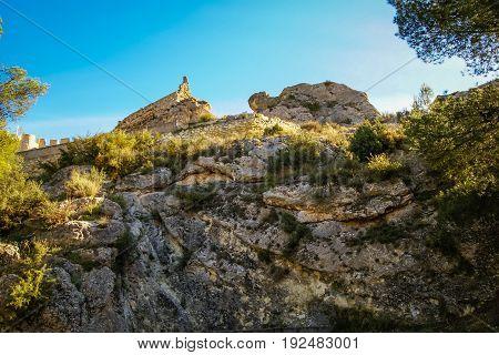 Beautiful Medieval Castle At Sax, Valencia, Spain