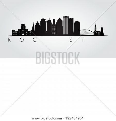 Rotterdam skyline detailed silhouette. Transparent style. Trendy vector illustration.