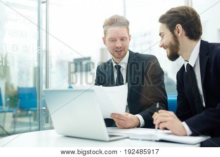 Briefing of two young financial managers