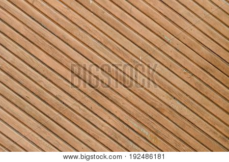 Diagonally Disposed Brown Vintage Planks. Vertically Arranged. Texture. Background
