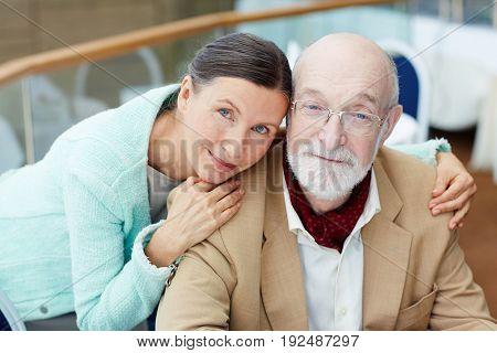 Serene seniors having rest at leisure