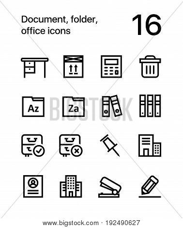 Document, folder, office icons for web and mobile design pack