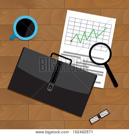 Market trend chart. Vector trends marketing market research stock illustration of statistics trend line market