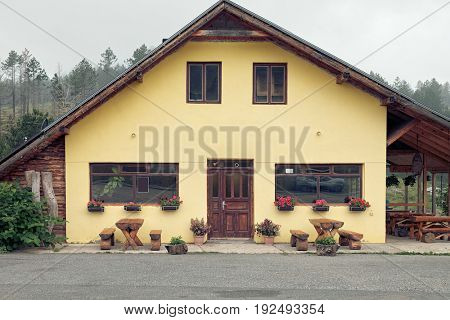 mountain house typical of Montenegro architecture