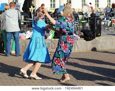 Izhevsk, Russia. 23 June 2017. Street Party, A Holiday In The City, Dancing People