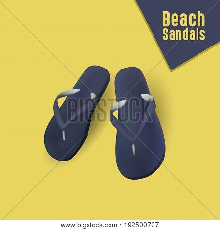 Vector illustration of beach sandals Eps File