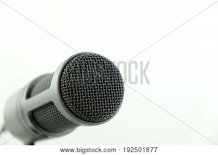 Cardio-id Condenser Microphone on isolated background microphone, isolated, condenser, radio, studio, voice, background