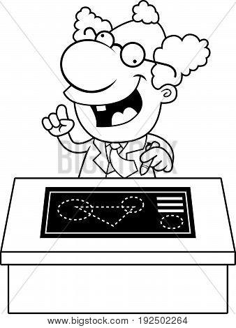 Cartoon Mad Scientist Blueprints