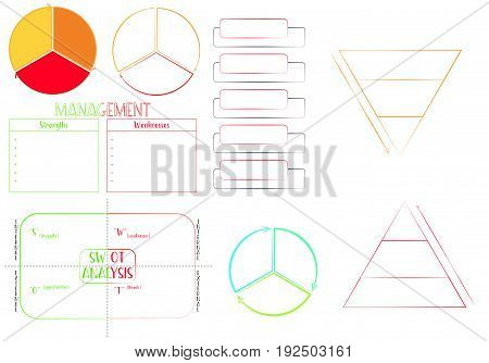 This is Marketing strategy set with swot analysi, pyramids, etc.