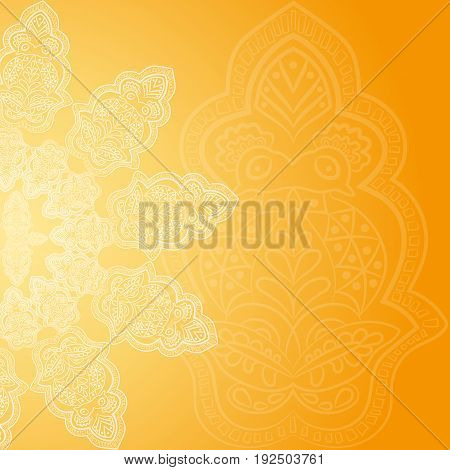 Floral pattern background with indian ornament. Illustration
