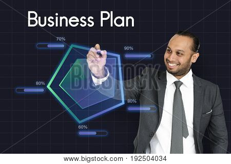 Startup Plan Business Goals Diagram