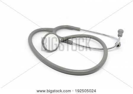 Stethoscope for doctor isolated on white background