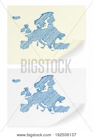 Europe Scribble Map