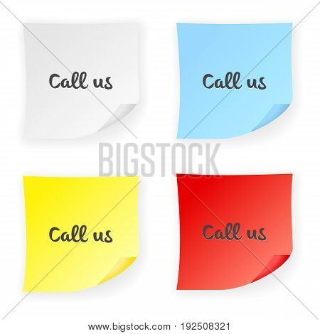 Stick Note Call Us