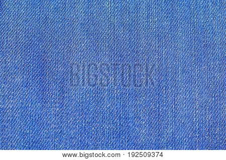Small Blue  Jeans Fabric Fibres Close Up