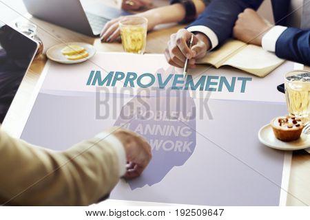 Problem Planning Hard Work Achievement Iceberg Graphic