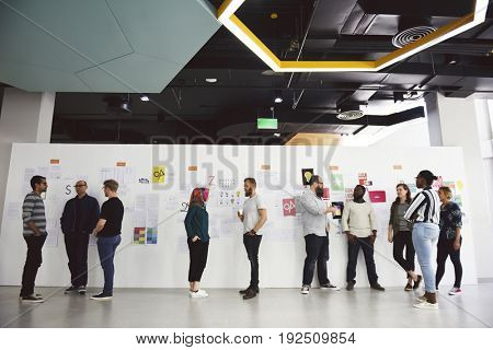 Creative group ideas discussion meeting
