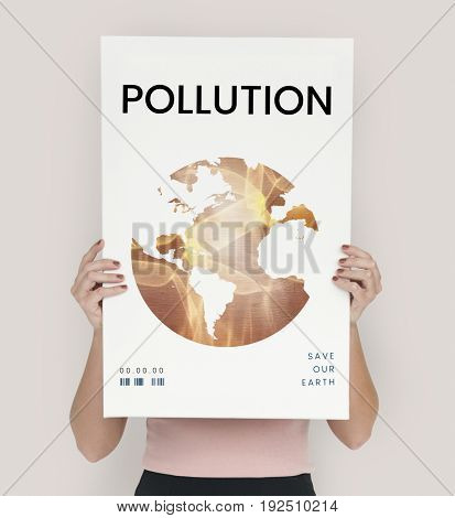 Global environment ecology pollution graphic