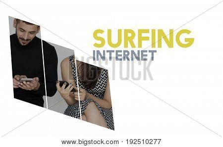 Surfing internet digital network connection