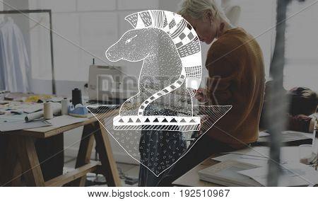 Knight chess strategic game plan illustration