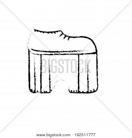figure hippie shoes design and fashion decorative vector illustration