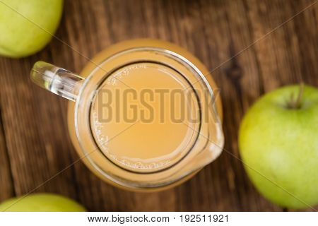 Apple Juice On Vintage Wooden Background