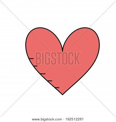 beauty heart to romantic symbol vector illustration