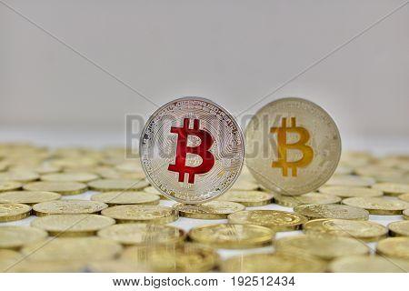 Red Bitcoin Coin