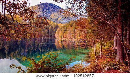 Autumn Morning At The Alpine Lake
