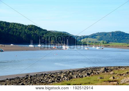Boats at Urr Water, Kippford, Dumfries & Galloway