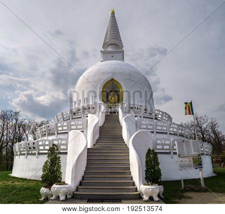Peace Stupa in Zalaszanto Hungary central Europe