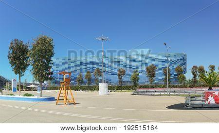Sochi Krasnodar Krai Russia - June 06.2017: Palace of winter sports