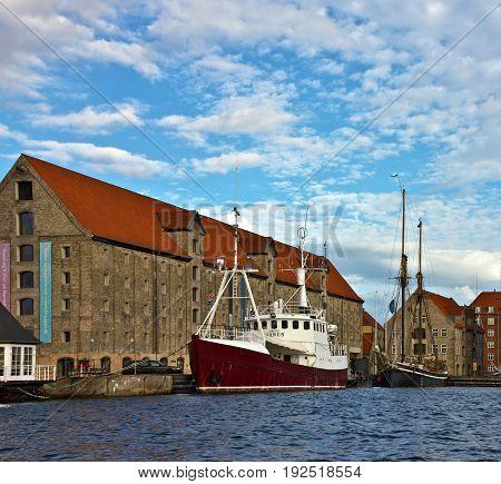 Copenhagen, Denmark - May 9, 2017: Yacht marina in sea port of Copenhagen, Denmark