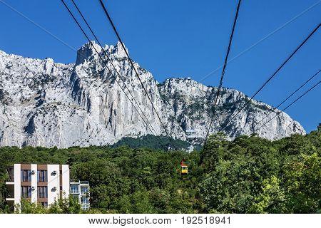 Cable car to mountain Ai-Petri, Crimea, Russia
