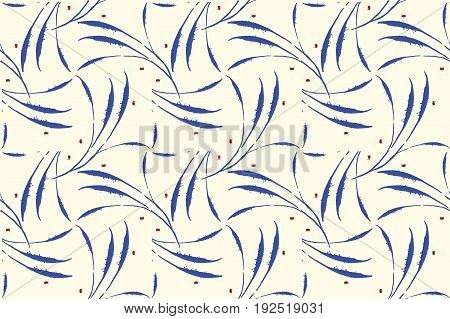 Minimalistic vector ethnic feather seamless pattern. Modern flaky backdrop. Japanese wallpaper. Plumage layout. Light design for your wedding anniversary, birthday card, valentine's day.